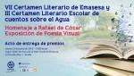Acto de Entrega de Premios Certámenes Literarios y Exposición Poesía Visual en homenaje a Rafael de Cózar