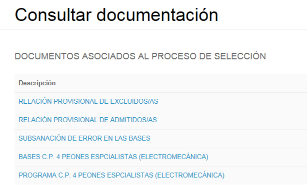 Concurso Público Electromecánica