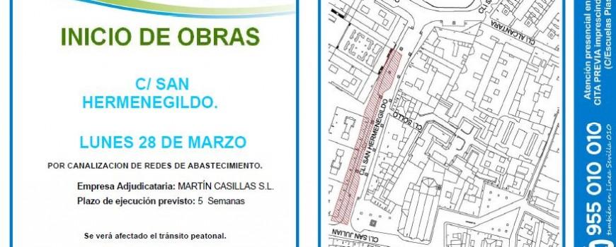 Obras en C/ San Hermenegildo (Sevilla)