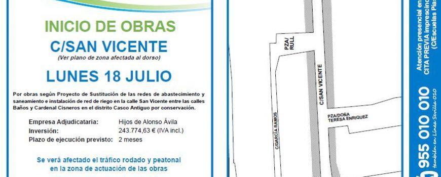 Obra C.San Vicente. 18.07.16