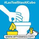 EMASESA se suma a la lucha para evitar las toallitas húmedas en los inodoros