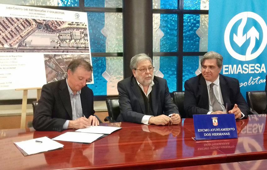 EMASESA comenzará en abril las obras del depósito de retención  de aguas pluviales de Dos Hermanas