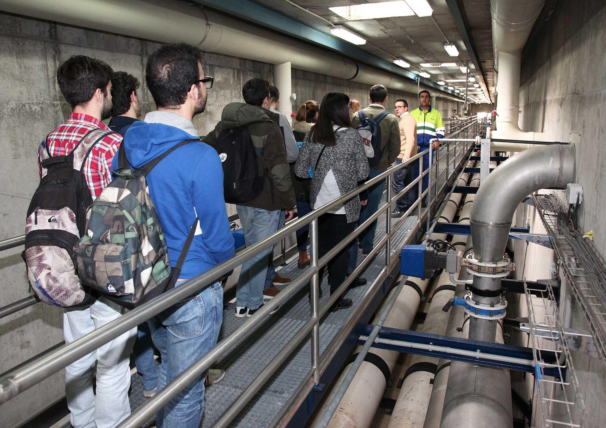 Visita Alumnos EDAR Ranilla durante el 'Las estaciones depuradoras de aguas residuales como eliminadoras de contaminación'