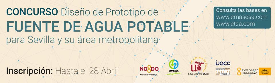 Concurso Prototipo Fuentes Agua Potable EMASESA. Banner
