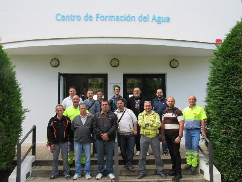 Alumnos 1º Curso Fontanería Básica. Centro de Formación del Agua de EMASESA