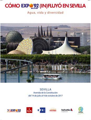 Cartel Exposición Cómo Expo'92 (in)fluyó en Sevilla