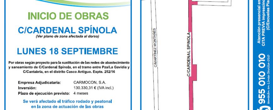 Obras EMASESA en Calle Cardenal Spínola