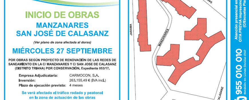 Octavilla Obra EMASESA  Calles Manzanares y José de Calasanz