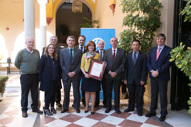 Entrega a EMASESA por parte de AENOR del certificado de Seguridad Alimentaria de conformidad con los requisitos de la UNE EN ISO 22000