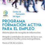 Abierto plazo de inscripción para las entidades sociales que quieran participar en el programa formativo de ayuda a la integración laboral de EMASESA