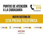 Nuevo sistema de cita previa telefónica en los puntos de atención al ciudadano de Sevilla