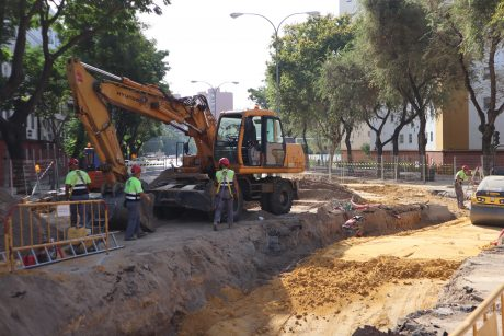 Compactado de tramo instalado en calle Rubén Darío esquina Alvar Núñez