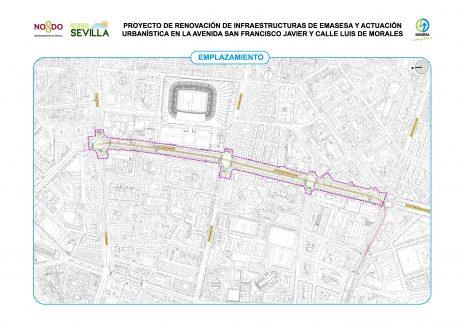Emplazamiento obras San Francisco Javier y Luis de Morales