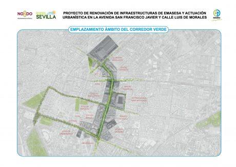 Emplazamiento ámbito del corredor verde