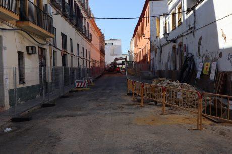 Inicio de obras en calle Becas