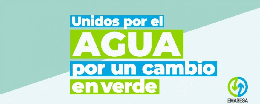 Unidos por el Agua. Billboard desplegable 980x500